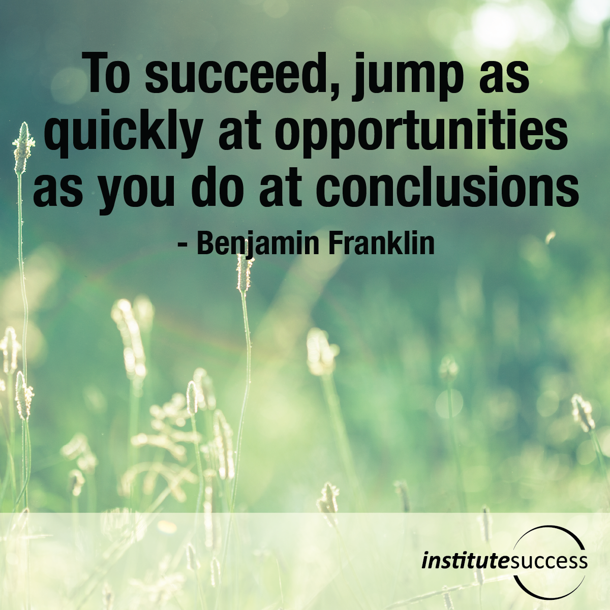Jumping To Conclusions Quotes: To Succeed, Jump As Quickly At Opportunities As You Do At