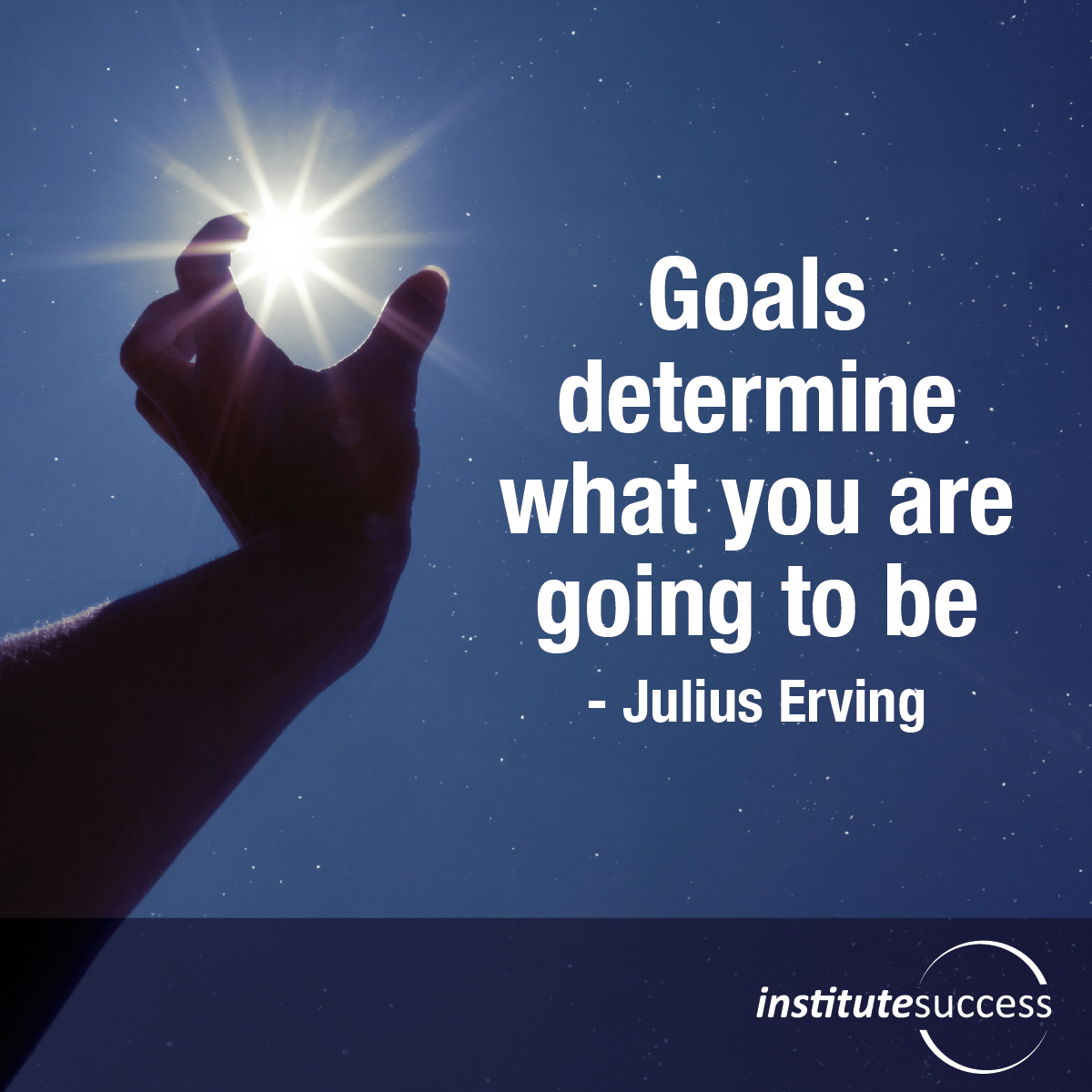 Goals determine what you are going to be – Julius Erving