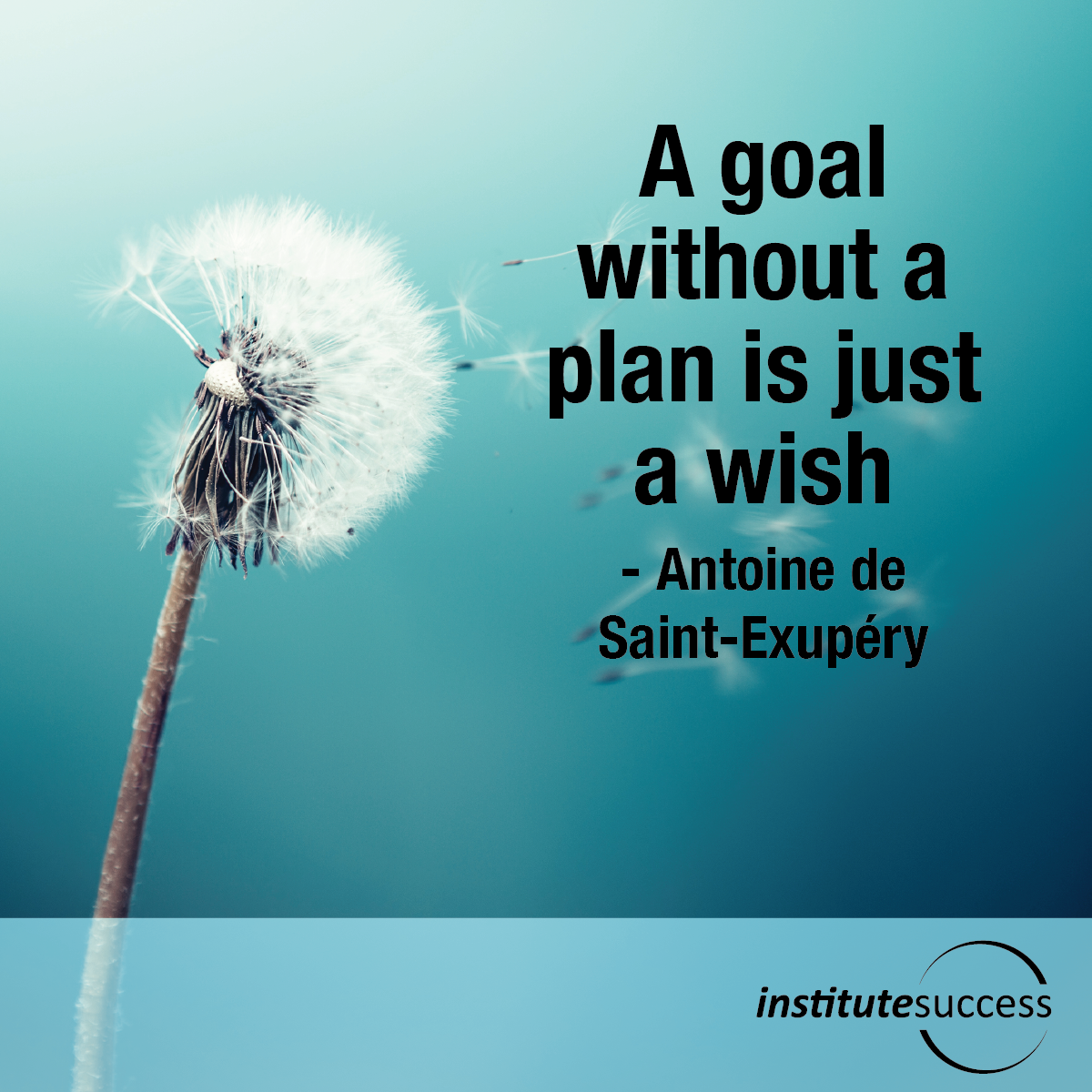 A Goal Without A Plan Is Just A Wish U2013 Antoine De Saint Exupery