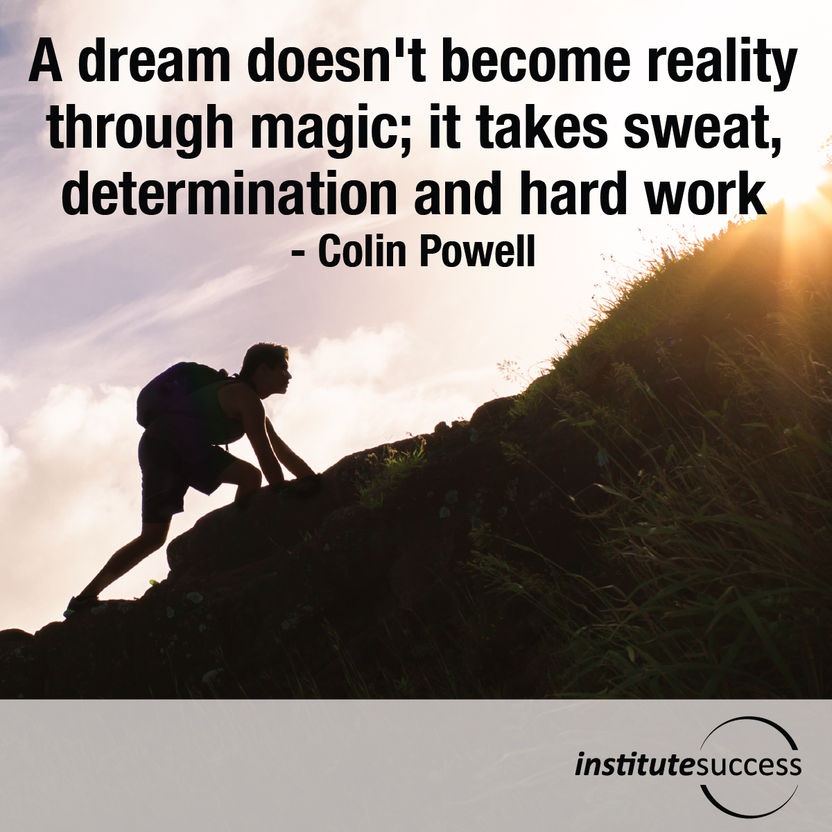 A dream doesn't become reality through magic; it takes sweat, determination and hard work – Colin Powell