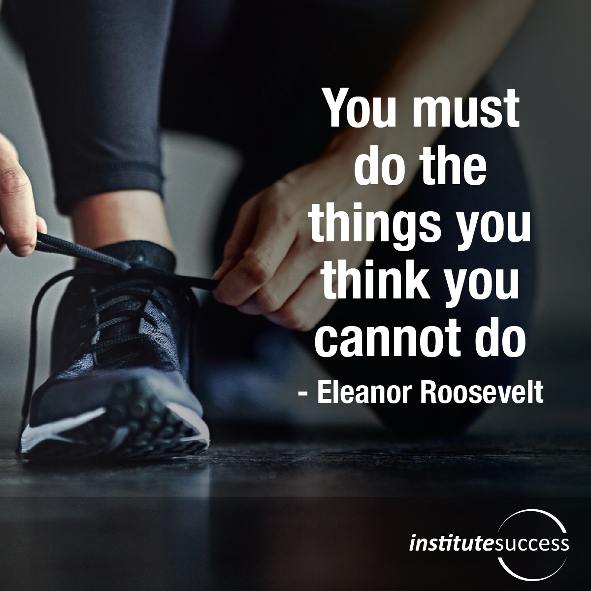 You must do the things you think you cannot do – Eleanor Roosevelt